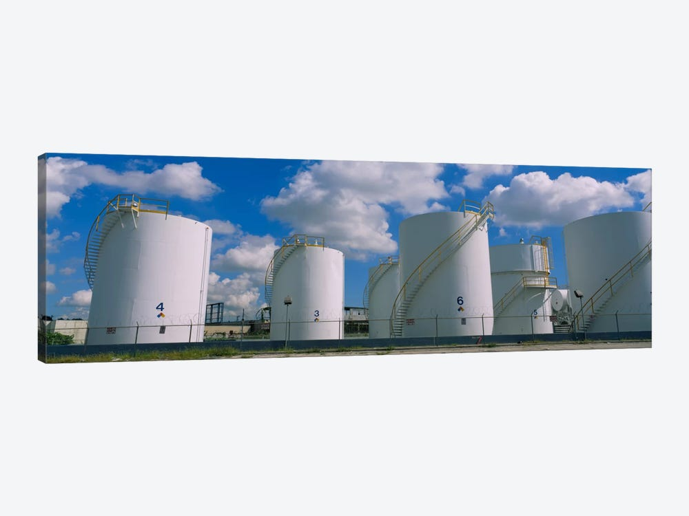 Storage tanks in a factory, Miami, Florida, USA by Panoramic Images 1-piece Canvas Art Print