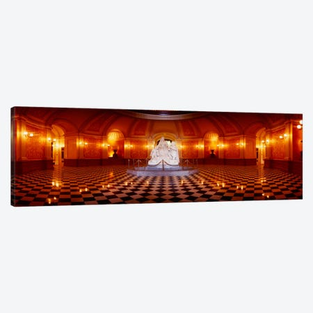 Statue surrounded by a railing in a building, California State Capitol Building, Sacramento, California, USA Canvas Print #PIM2333} by Panoramic Images Canvas Art Print