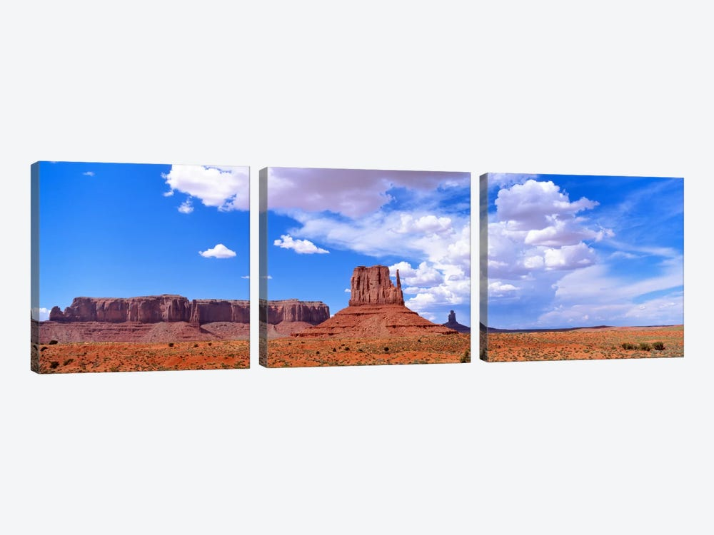 Monument Valley Tribal Park AZ USA by Panoramic Images 3-piece Canvas Art