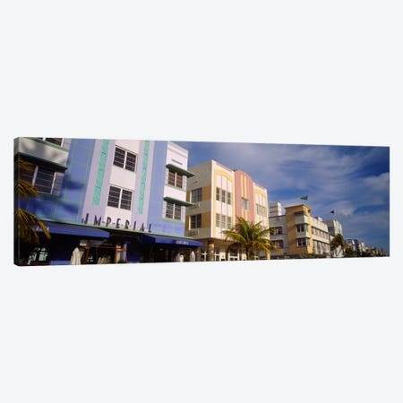 Facade of a hotel, Art Deco Hotel, Ocean Drive, Miami Beach, Florida, USA #2 Canvas Print #PIM233} by Panoramic Images Canvas Print