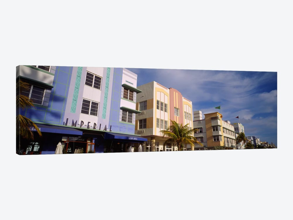 Facade of a hotel, Art Deco Hotel, Ocean Drive, Miami Beach, Florida, USA #2 by Panoramic Images 1-piece Art Print