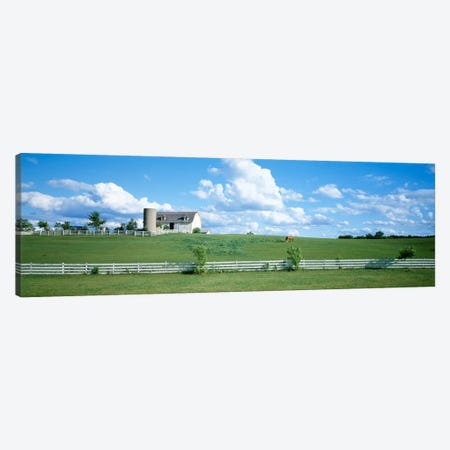 Countryside Dairy Farm, Janesville, Wisconsin, USA Canvas Print #PIM2343} by Panoramic Images Canvas Wall Art