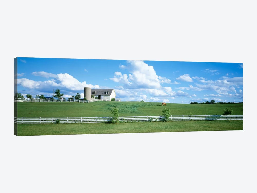 Countryside Dairy Farm, Janesville, Wisconsin, USA by Panoramic Images 1-piece Canvas Art Print
