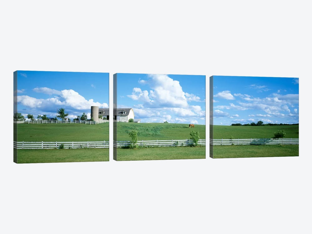 Countryside Dairy Farm, Janesville, Wisconsin, USA by Panoramic Images 3-piece Canvas Print