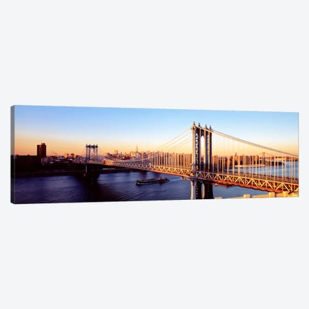 Manhattan Bridge, NYC, New York City, New York State, USA Canvas Print #PIM2344} by Panoramic Images Art Print