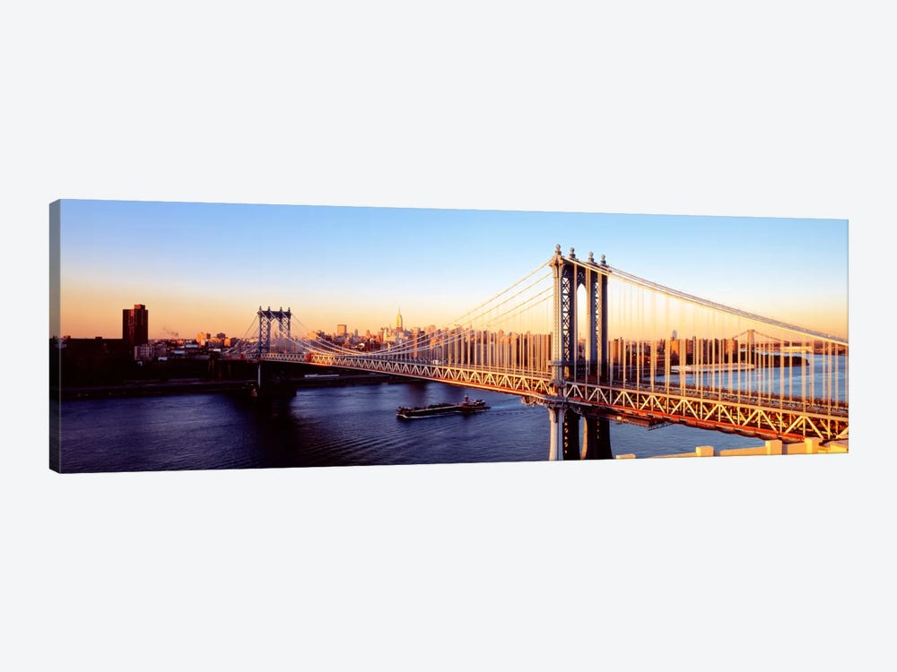 Manhattan Bridge, NYC, New York City, New York State, USA by Panoramic Images 1-piece Canvas Art
