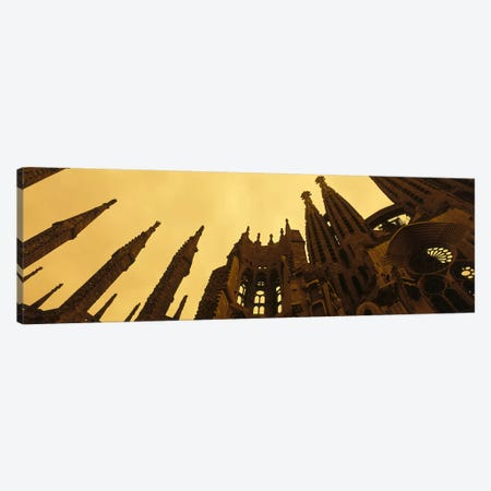 La Sagrada Familia Barcelona Spain Canvas Print #PIM2348} by Panoramic Images Canvas Wall Art