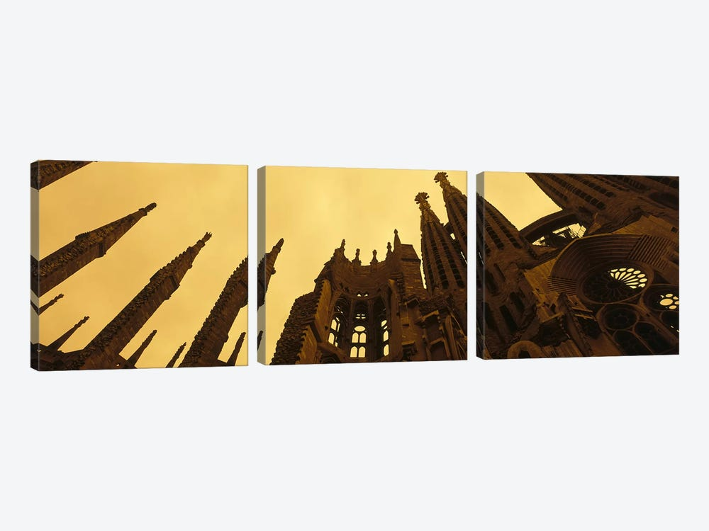 La Sagrada Familia Barcelona Spain by Panoramic Images 3-piece Canvas Wall Art