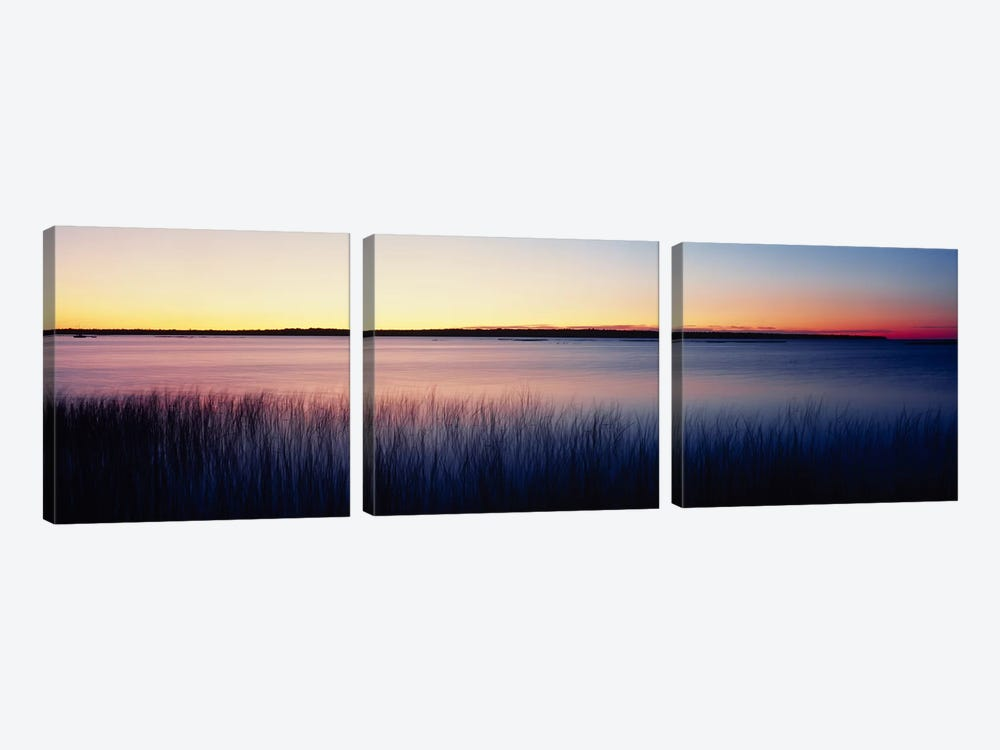 Sunrise Lake Michigan WI USA by Panoramic Images 3-piece Canvas Art Print