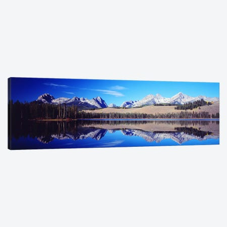 Little Redfish Lake Mountains ID USA 3-Piece Canvas #PIM2350} by Panoramic Images Canvas Art Print