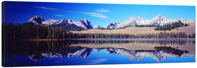 Little Redfish Lake Mountains ID USA Canvas Art Print
