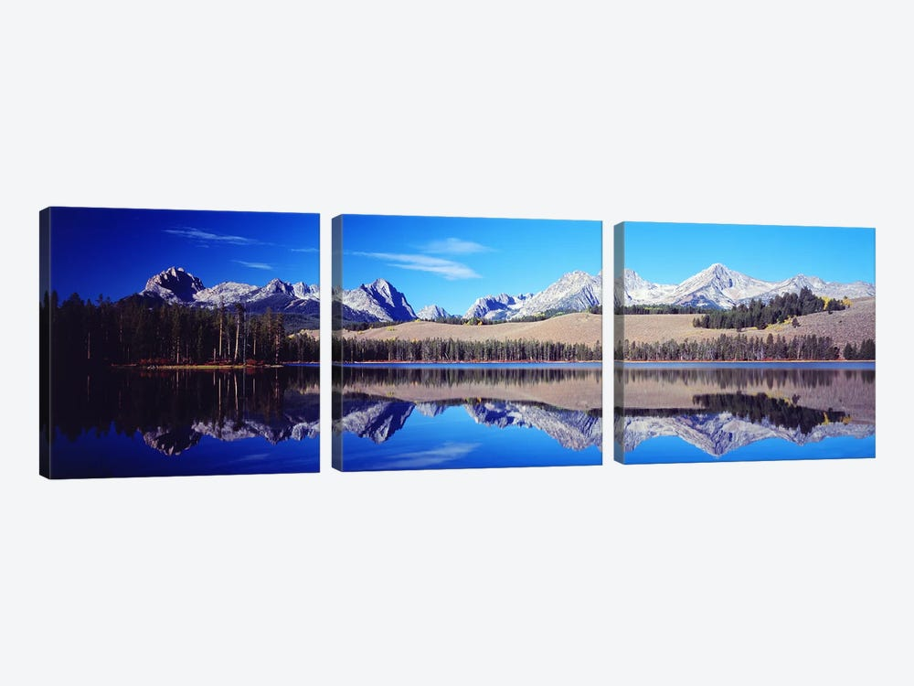 Little Redfish Lake Mountains ID USA 3-piece Art Print