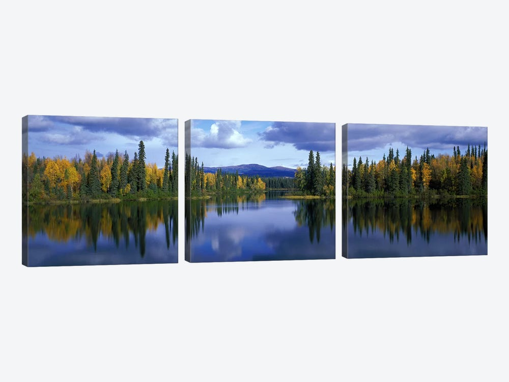 Dragon Lake Yukon Canada by Panoramic Images 3-piece Canvas Wall Art