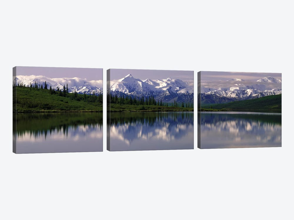 Wonder Lake Denali National Park AK USA by Panoramic Images 3-piece Canvas Print