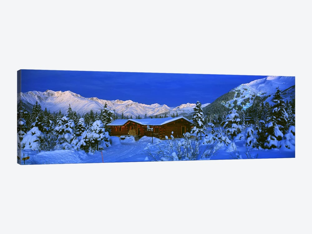 Mountainside Cabin Near Mount Alyeska, Chugach Mountains, Alaska, USA by Panoramic Images 1-piece Canvas Art
