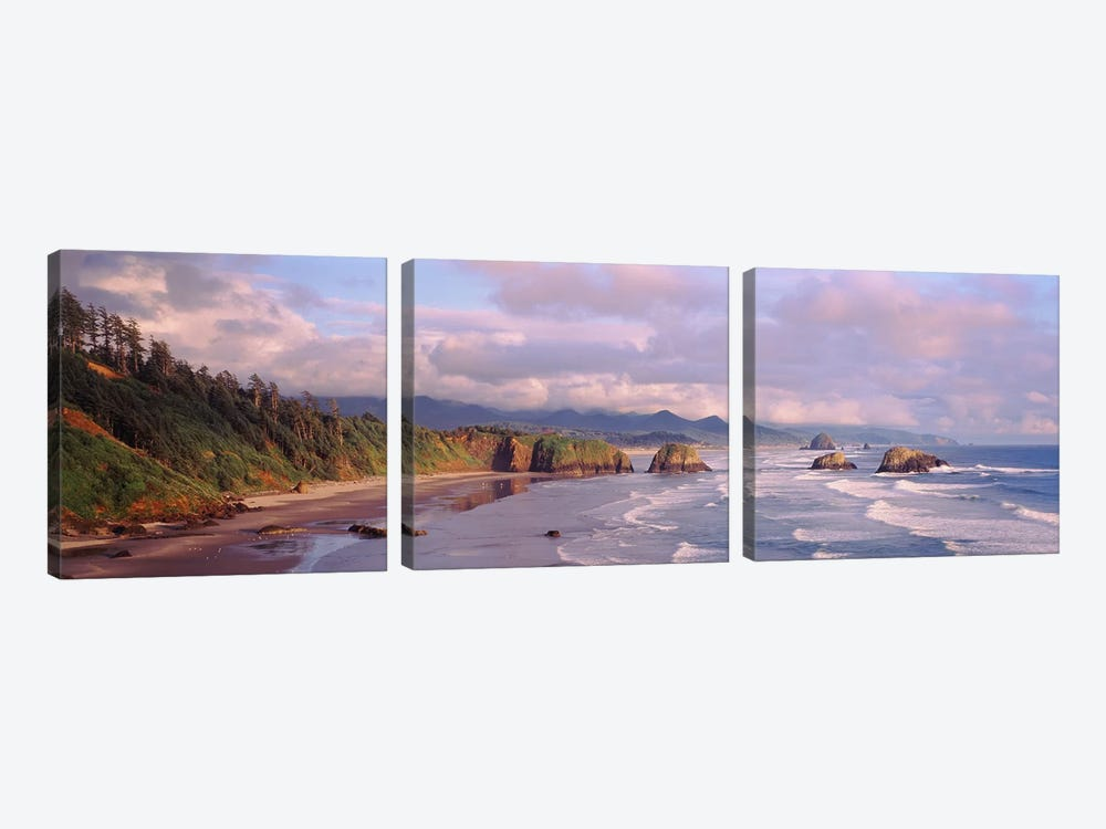 Seascape Cannon Beach OR USA by Panoramic Images 3-piece Canvas Art