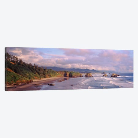 Seascape Cannon Beach OR USA Canvas Print #PIM2360} by Panoramic Images Canvas Wall Art