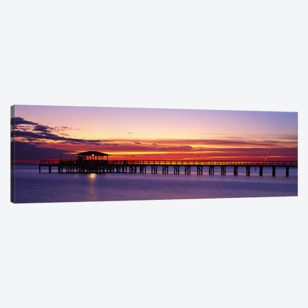 Sunset Mobile Pier AL USA Canvas Print #PIM2361} by Panoramic Images Canvas Art