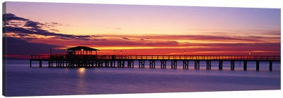 Sunset Mobile Pier AL USA Canvas Art Print