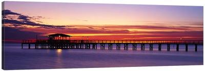 Sunset Mobile Pier AL USA Canvas Print #PIM2361