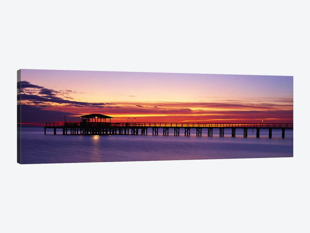 Sunset Mobile Pier AL USA by Panoramic Images 1-piece Art Print