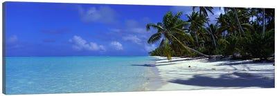 Isolated Beach, Teti'aroa, Windward Islands, Society Islands, French Polynesia Canvas Art Print