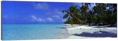 Isolated Beach, Teti'aroa, Windward Islands, Society Islands, French Polynesia Canvas Art Print