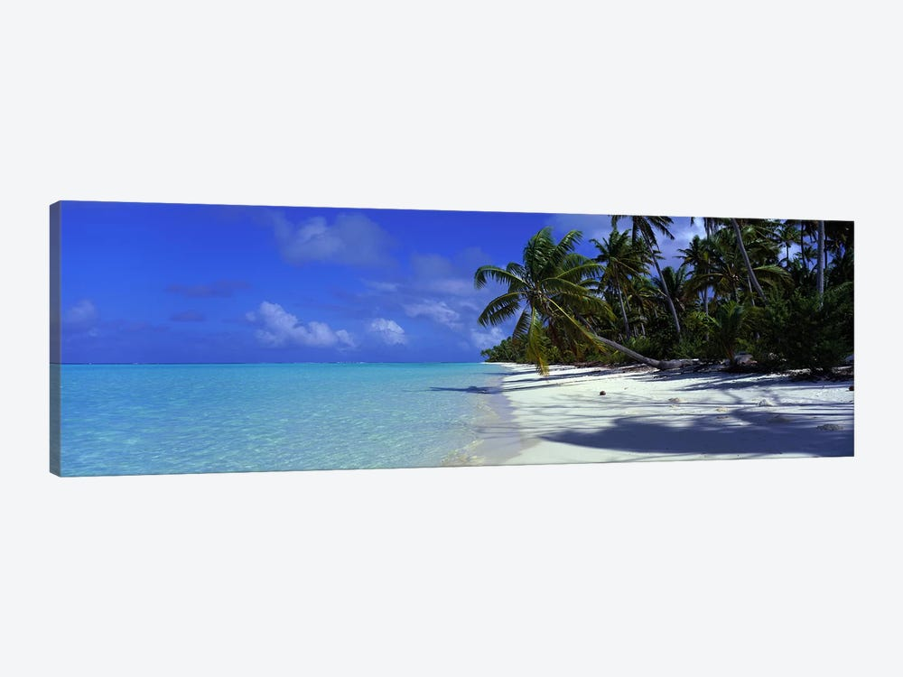 Isolated Beach, Teti'aroa, Windward Islands, Society Islands, French Polynesia by Panoramic Images 1-piece Canvas Print