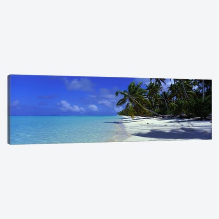 Isolated Beach, Teti'aroa, Windward Islands, Society Islands, French Polynesia Canvas Print #PIM2363} by Panoramic Images Canvas Art