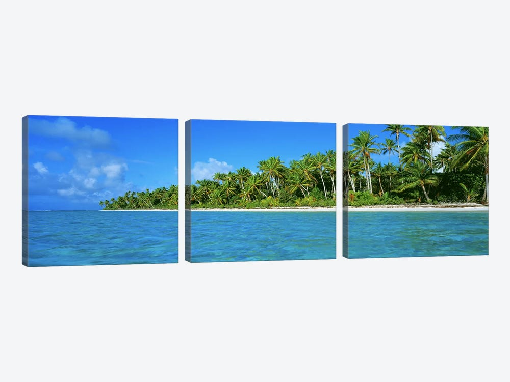 Tetiaroa Atoll French Polynesia Tahiti by Panoramic Images 3-piece Canvas Wall Art