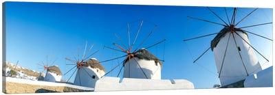 Windmills Santorini Island Greece Canvas Print #PIM237