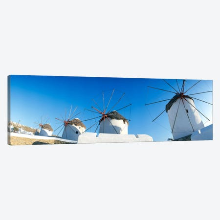 Windmills Santorini Island Greece Canvas Print #PIM237} by Panoramic Images Canvas Artwork