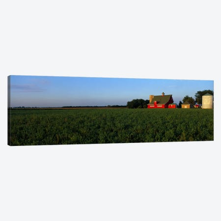 Farm Fields Stelle IL USA Canvas Print #PIM2380} by Panoramic Images Canvas Art