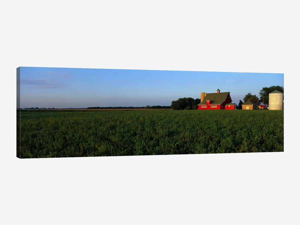 Farm Fields Stelle IL USA by Panoramic Images 1-piece Canvas Artwork