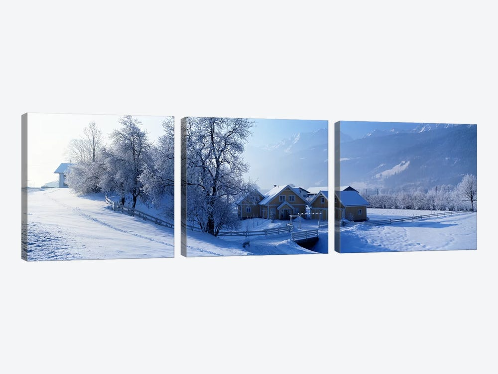 Winter Farm Austria by Panoramic Images 3-piece Canvas Wall Art