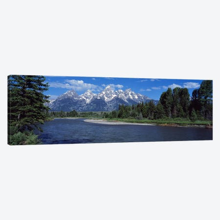 Snake River & Grand Teton WY USA Canvas Print #PIM2396} by Panoramic Images Canvas Art