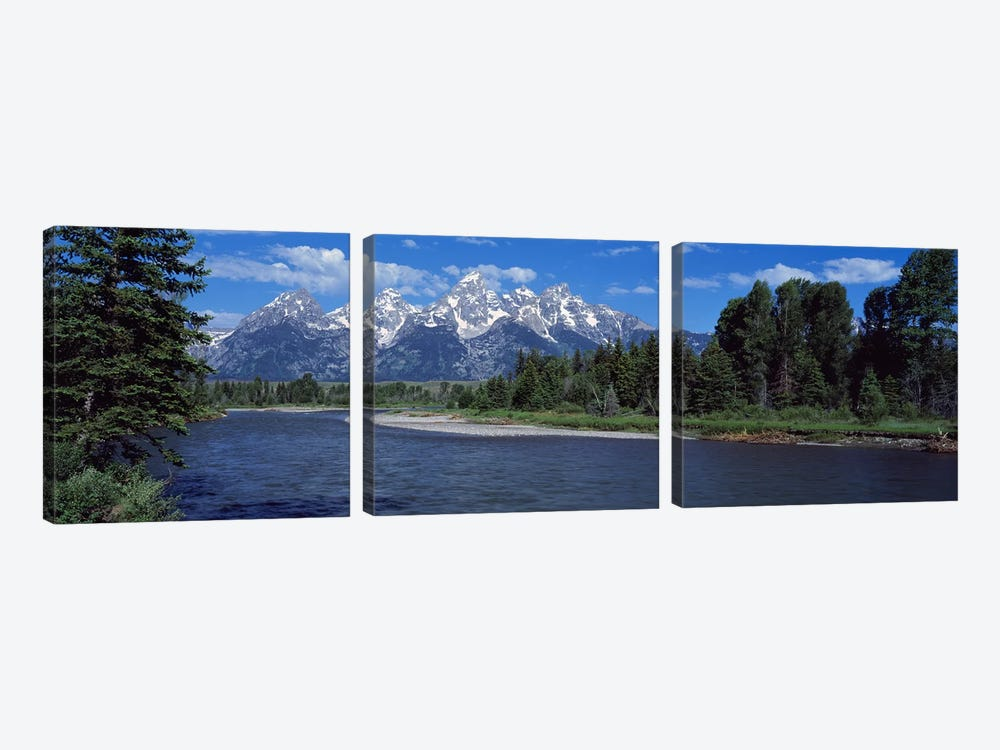 Snake River & Grand Teton WY USA by Panoramic Images 3-piece Canvas Art Print