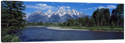 Snake River & Grand Teton WY USA Canvas Art Print