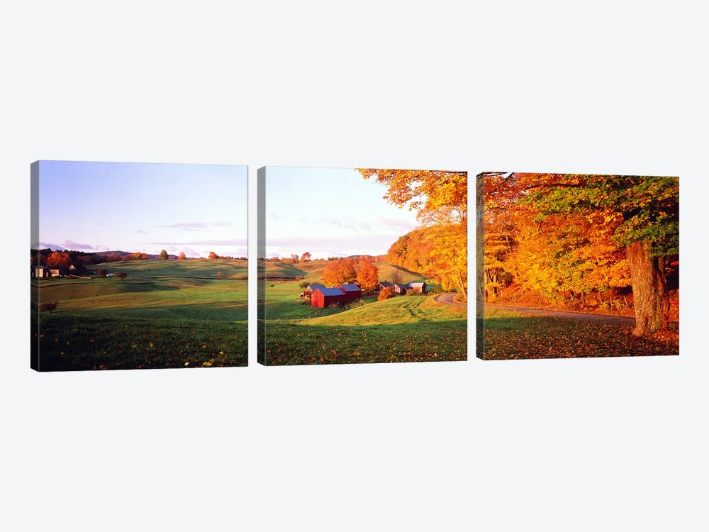 Fall Farm VT USA 3-piece Canvas Artwork
