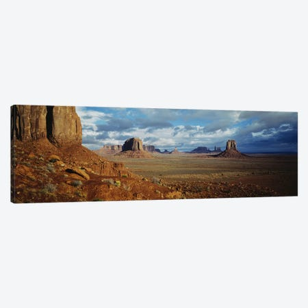 Stormy Valley Landscape, Monument Valley, Navajo Nation, USA Canvas Print #PIM2401} by Panoramic Images Canvas Print