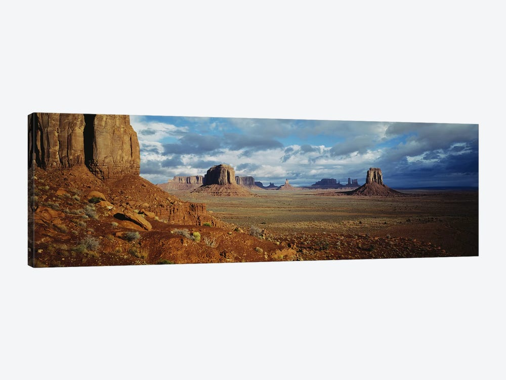 Stormy Valley Landscape, Monument Valley, Navajo Nation, USA by Panoramic Images 1-piece Canvas Artwork