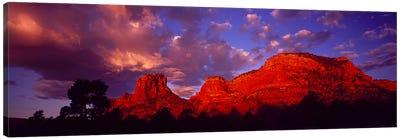 Rocks at Sunset Sedona AZ USA Canvas Art Print