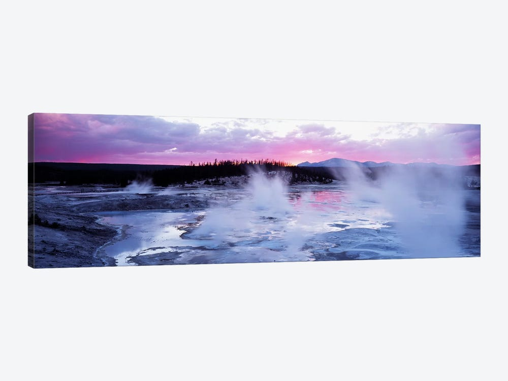 Fuchsia Sunset, Norris Geyser Basin, Yellowstone Caldera, Yellowstone National Park, Wyoming, USA by Panoramic Images 1-piece Art Print