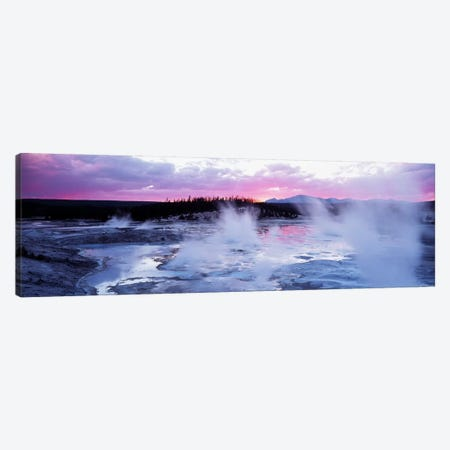 Fuchsia Sunset, Norris Geyser Basin, Yellowstone Caldera, Yellowstone National Park, Wyoming, USA Canvas Print #PIM2404} by Panoramic Images Canvas Artwork