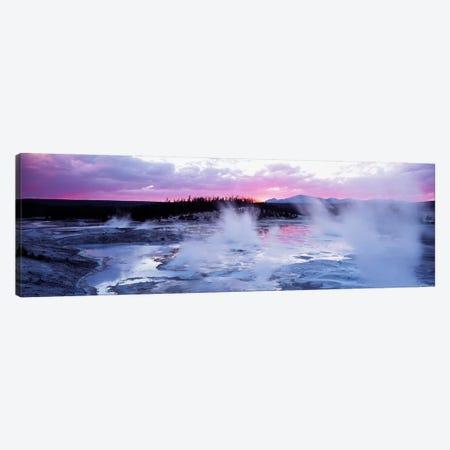 Fuchsia Sunset, Norris Geyser Basin, Yellowstone Caldera, Yellowstone National Park, Wyoming, USA Canvas Print #PIM2404} by Panoramic Images Canvas Artwork