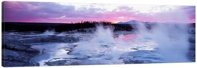 Fuchsia Sunset, Norris Geyser Basin, Yellowstone Caldera, Yellowstone National Park, Wyoming, USA Canvas Art Print