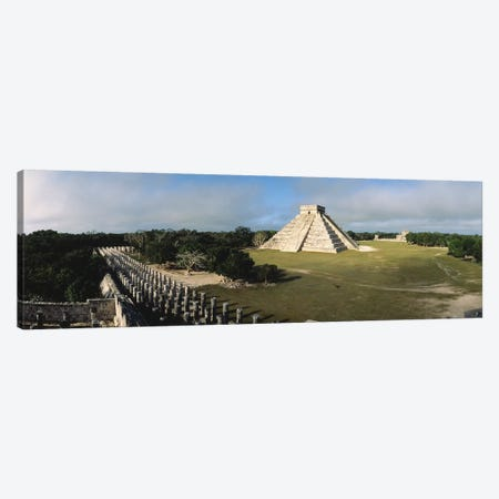 Pyramid Chichen Itza Mexico Canvas Print #PIM2405} by Panoramic Images Canvas Artwork
