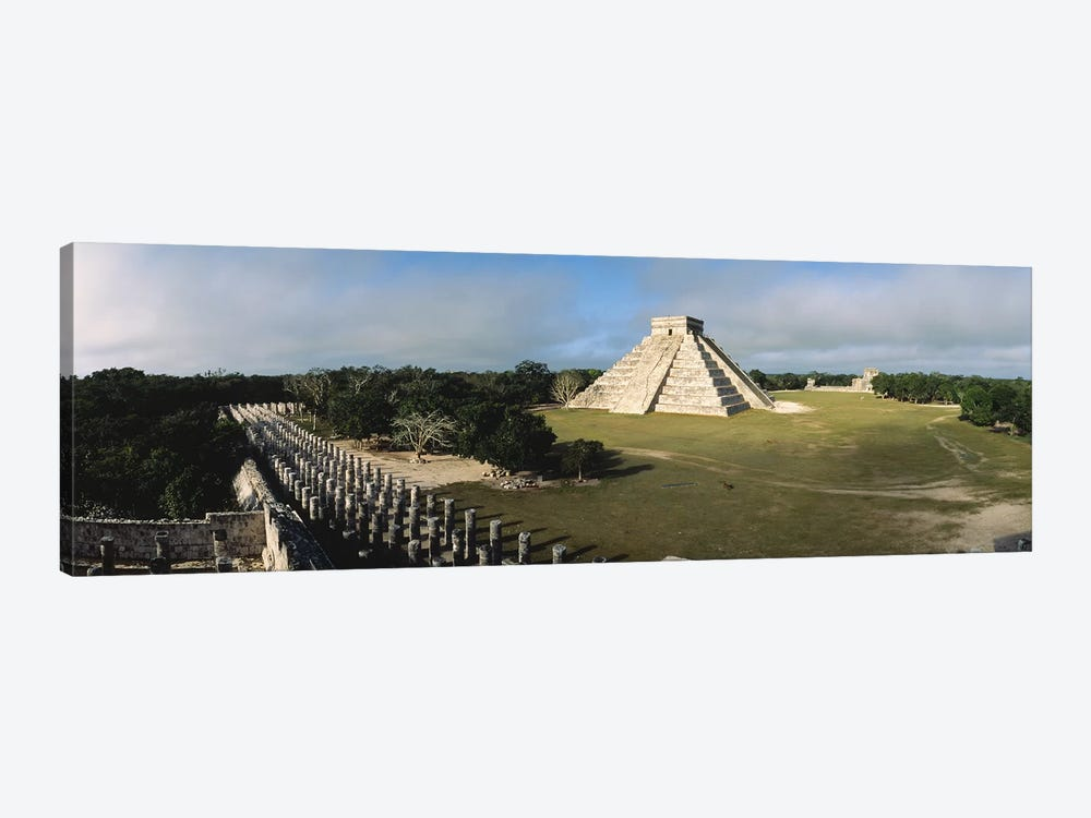 Pyramid Chichen Itza Mexico by Panoramic Images 1-piece Canvas Artwork