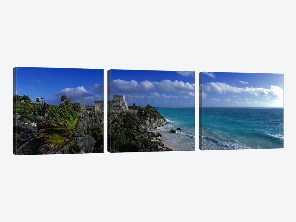 El Castillo Tulum Mexico by Panoramic Images 3-piece Canvas Art Print