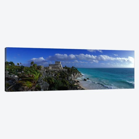 El Castillo Tulum Mexico Canvas Print #PIM2406} by Panoramic Images Canvas Art
